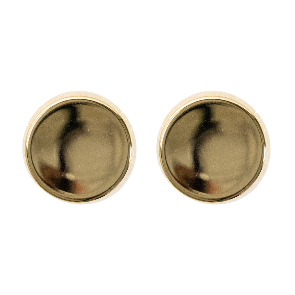 Cuff Links - concave 22k gold