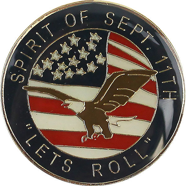 Lapel Pin: Spirit of September Eleventh - Let's Roll