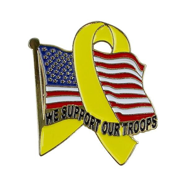 Lapel Pin: We Support Our Troops