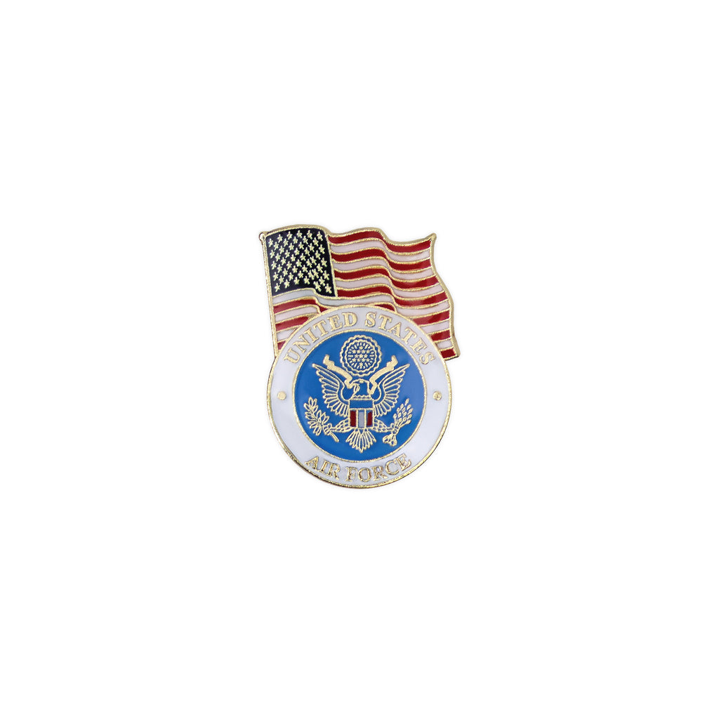 Air Force Lapel Pin: United States Flag with Air Force Emblem