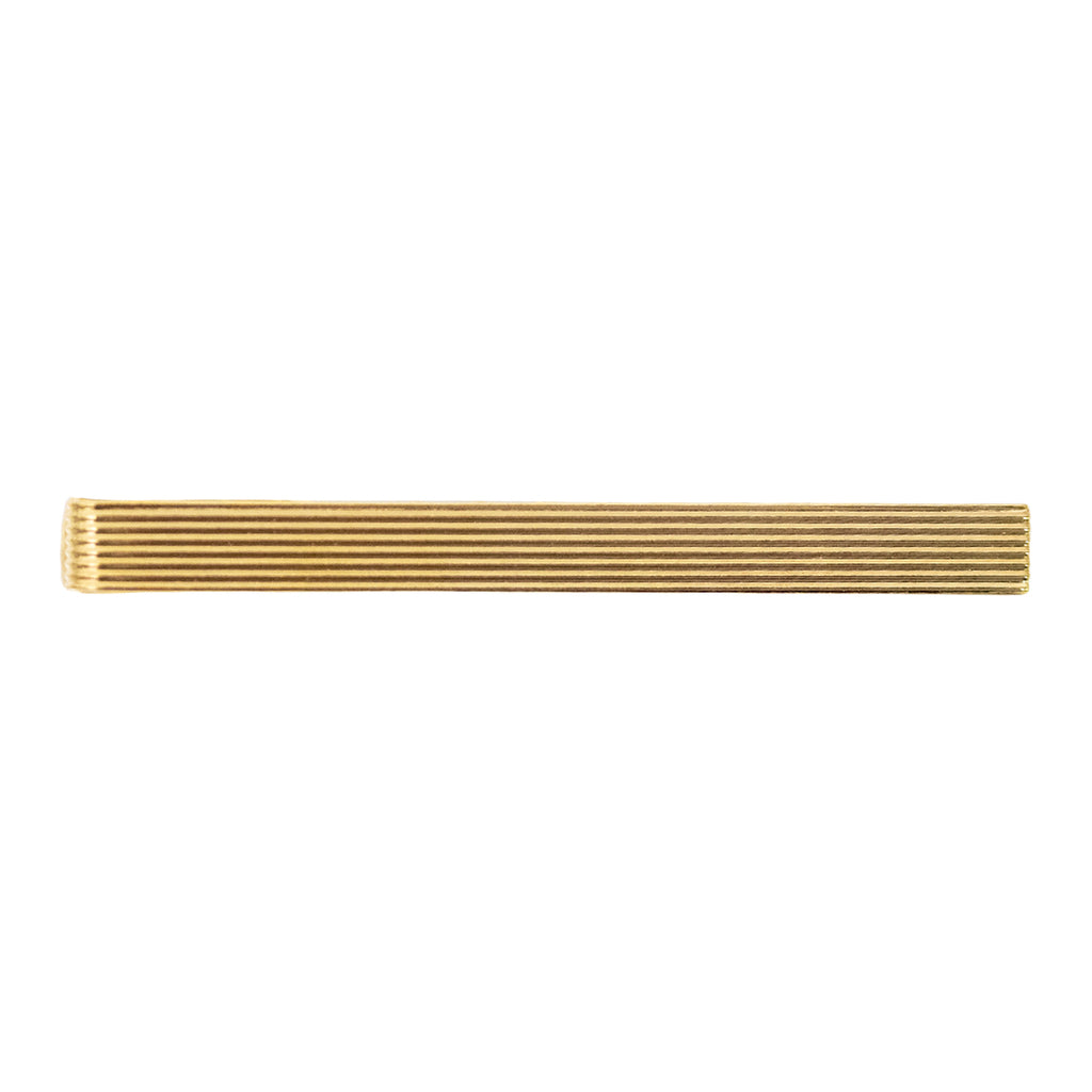 Tie Clasp: Ribbed Gold