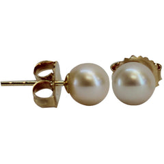 Earrings - pearl ball