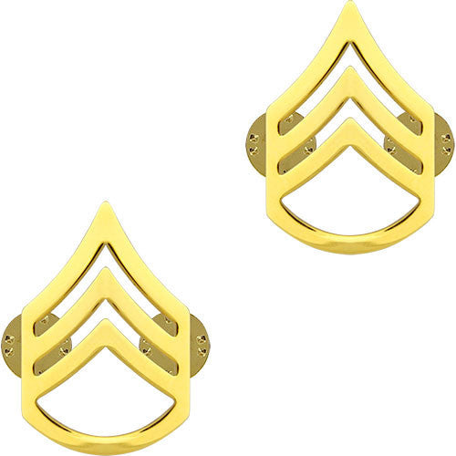 Army Chevron: Staff Sergeant - 22k gold plated