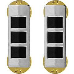 Army Rank Insignia: Warrant Officer 3 - nickel plated