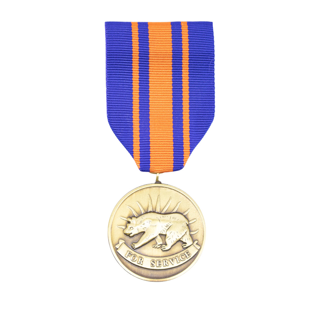 Full Size Medal: California National Guard Service Medal