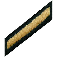 Army Hash Marks: Male - gold embroidered on green