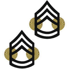 Army Chevron: Sergeant First Class - black metal