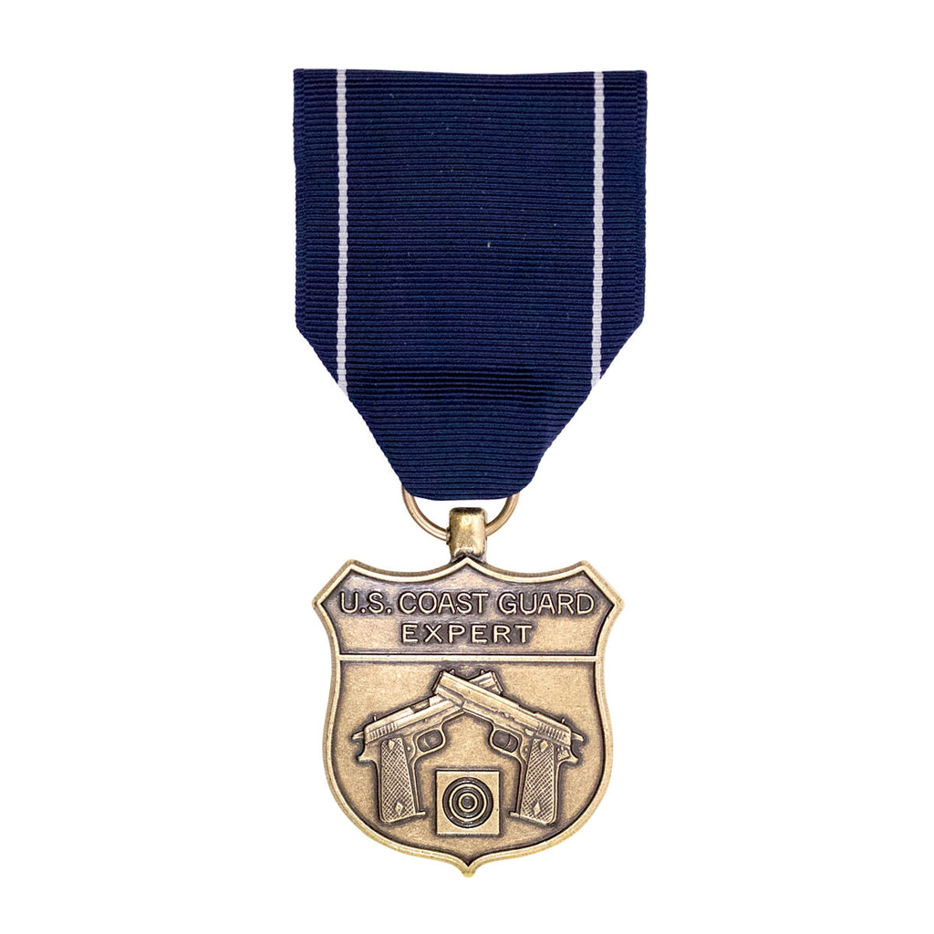 Full Size Medal: Coast Guard Expert Pistol