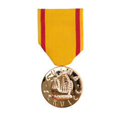Full Size Medal: China Service Navy - 24k Gold Plated