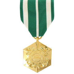 Full Size Medal: Coast Guard Commendation - 24k Gold Plated
