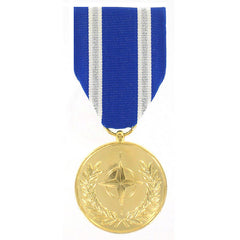 Full Size Medal: NATO Non-Article 5 Medal for Afghanistan - 24k Gold Plated