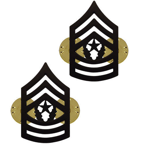 Army Chevron: Command Sergeant Major - black Metal
