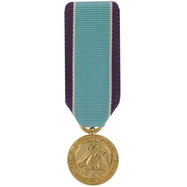 Miniature Medal- 24k Gold Plated: Coast Guard Distinguished Service