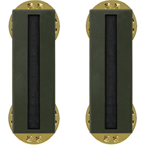Army Insignia Rank: Warrant Officer 5 - black metal