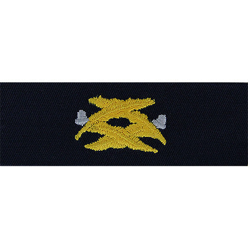 Navy Embroidered Collar Device: Civil Engineering - coverall