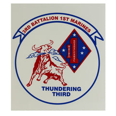 Decal: 3rd Battalion 1st Marines - Thundering Third