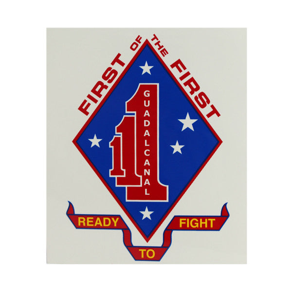 Decal: Marine Corps First of the First - Ready To Fight