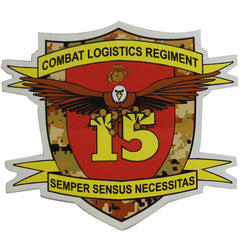 Decal: Marine Corps 15th Combat Logistics Regiment - Semper Sensus Necessitas