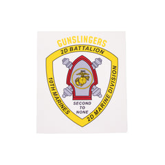 Decal: 2nd Battalion 10th Marines 2nd Marine Division  - Gunslingers