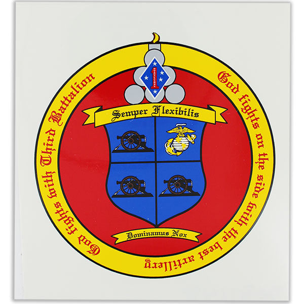 Decal: 3rd Battalion 11th Marines - Semper Flexibilis