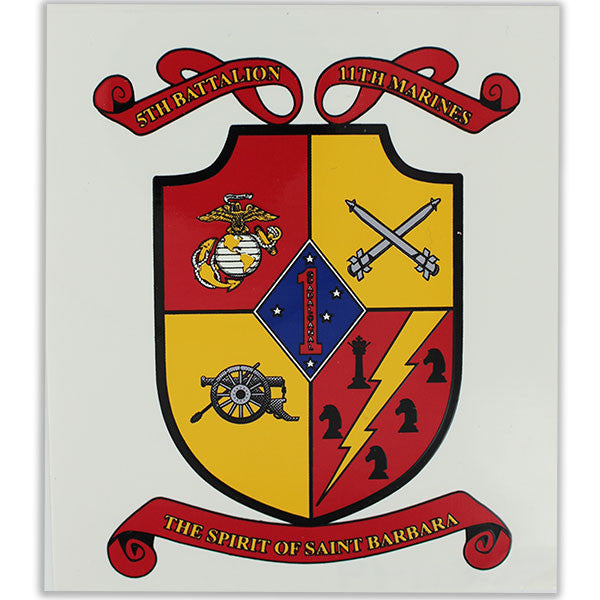 Decal: 5th Battalion 11th Marines - The Spirit of Saint Barbara