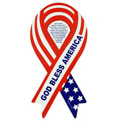 Ribbon Magnet: Red, white and blue God Bless America
