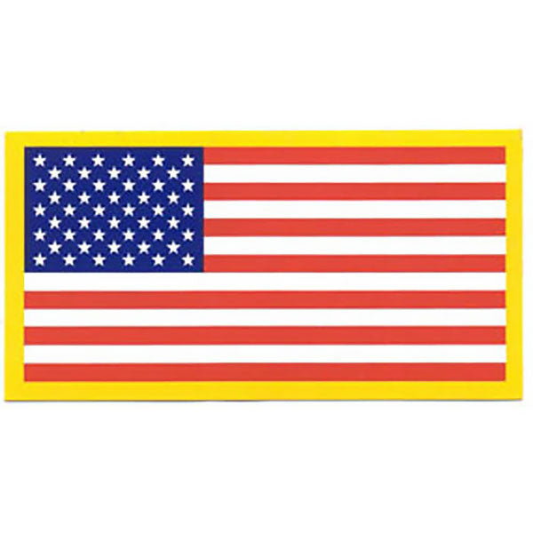Decal: American Flag - 2 by 3¾ inches