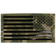 Flag Patch: U.S. Flag Reversed Field - IR (Infrared) - Woodland Digital