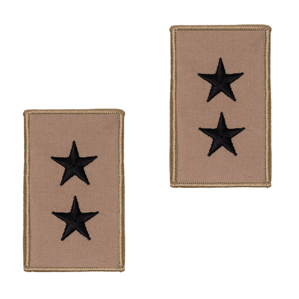 Navy Embroidered Rank: 2 Star: Rear Admiral Upper - Desert (NON-RETURNABLE)