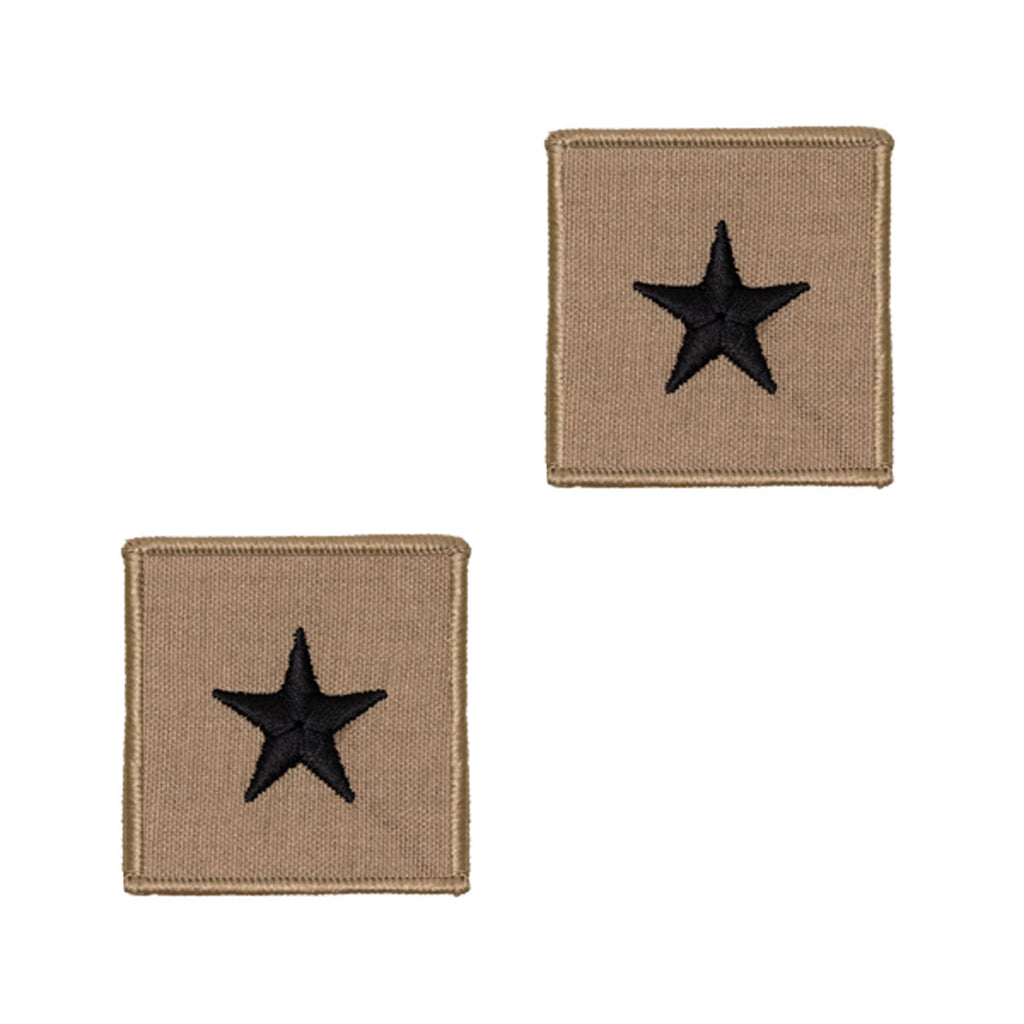 Navy Embroidered Rank: 1 Star: Rear Admiral Lower - Desert (NON-RETURNABLE)