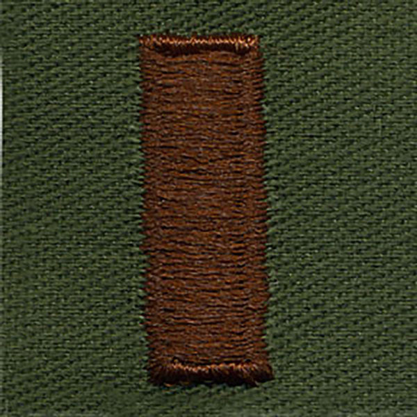 Air Force Embroidered Rank: Second Lieutenant - subdued fatigue (NON-REFUNDABLE)