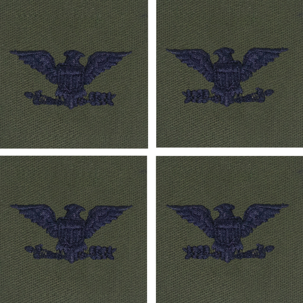 Air Force Embroidered Rank: Colonel - subdued fatigue (NON-REFUNDABLE)