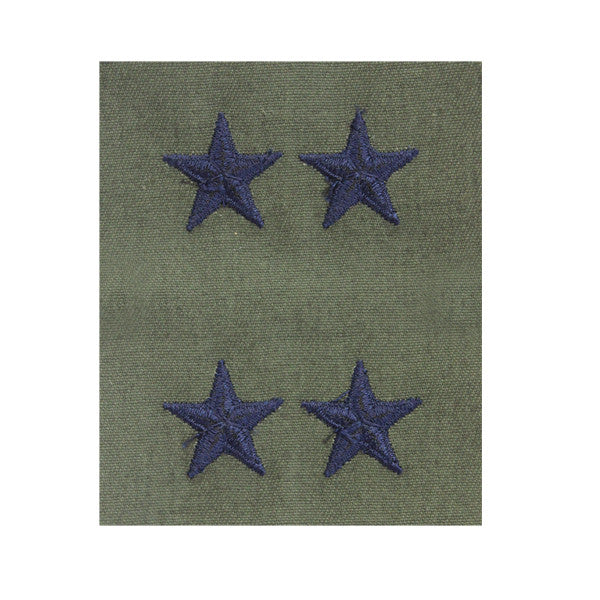 Air Force Embroidered Rank: Major General - subdued fatigue (NON-REFUNDABLE)