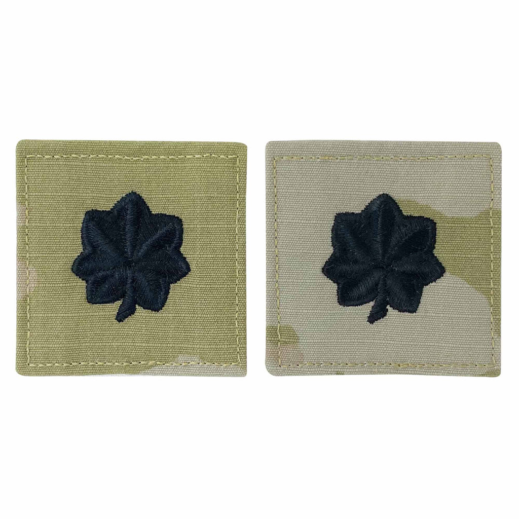 Army and Air Force Embroidered OCP with Hook Officer Rank Insignia: Lieutenant Colonel