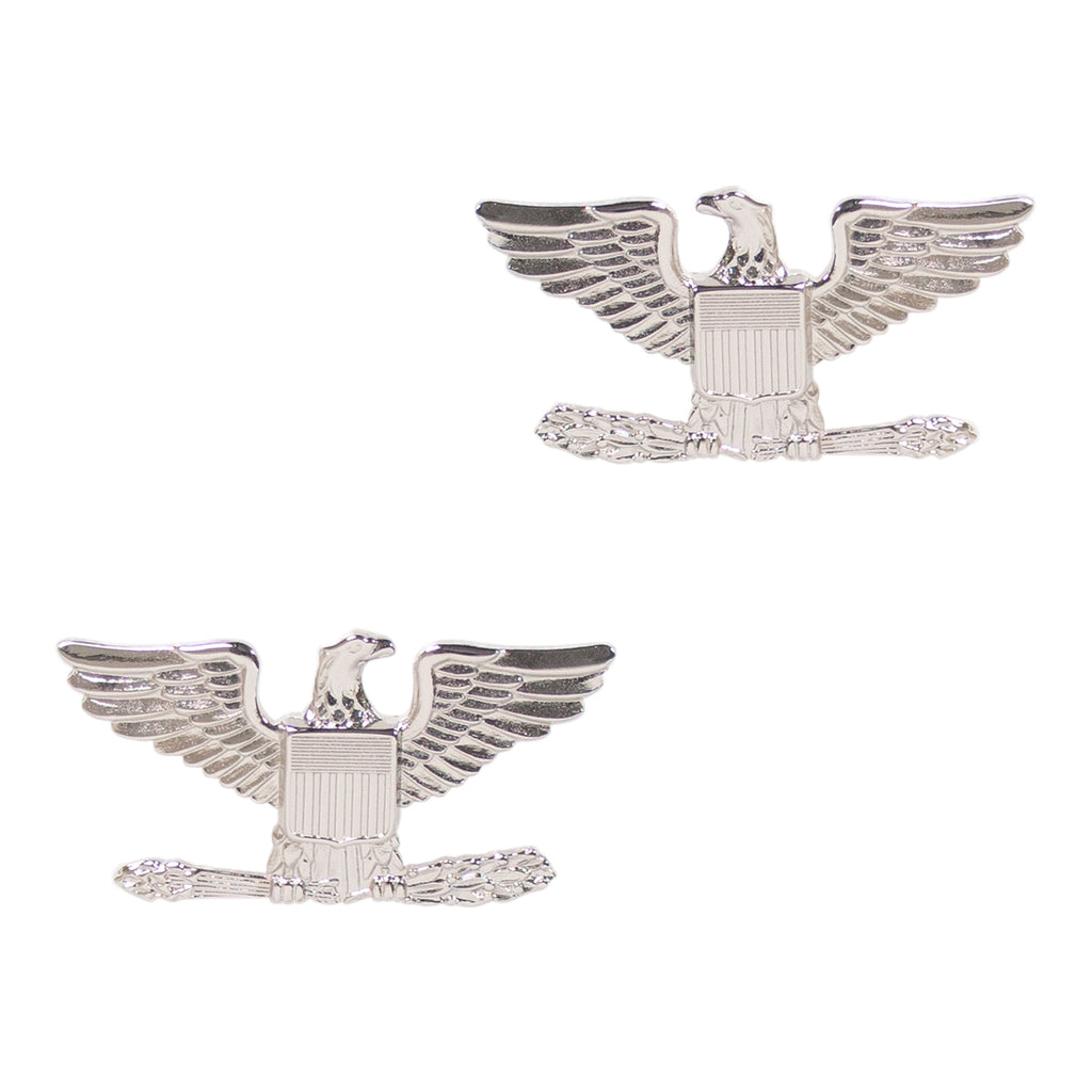 Rank Insignia Colonel Nickel Plated Vanguard