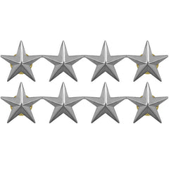 Officer Stars: nickel plated 1