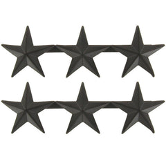 Officer Rank Insignia: Lieutenant General - black metal 1""