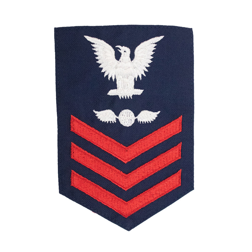 Coast Guard E6 Rating Badge:  AVIATION ELECTRICIAN - Blue
