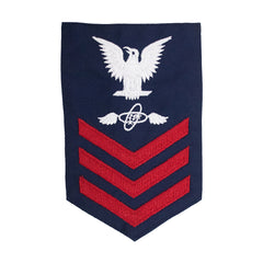Coast Guard E6 Rating Badge: AVIATION ELECTRICIAN TECHNICIAN - Blue