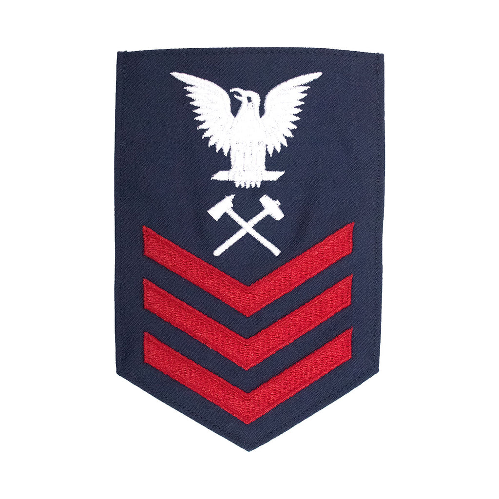Coast Guard E6 Rating Badge: DAMAGE CONTROLMAN - Blue