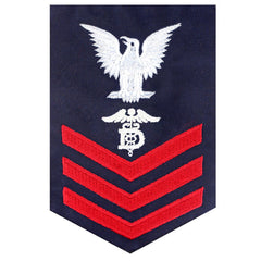 Coast Guard E6 Rating Badge:  DENTAL TECHNICIAN  - Blue