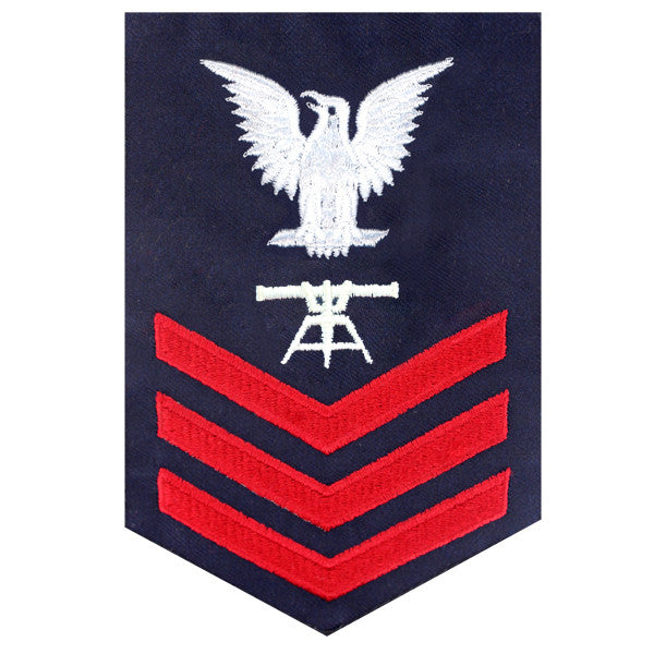 Coast Guard E6 Male Rating Badge: FIRE CONTROL TECHNICIAN  - Blue
