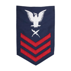 Coast Guard E6 Rating Badge: INTELLIGENCE SPECIALIST - Blue