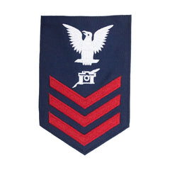 Coast Guard E6 Rating Badge: Public Affairs - Blue