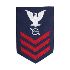 Coast Guard E6 Rating Badge: OPERATIONS SPECIALIST - Blue