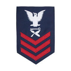 Coast Guard E6 Rating Badge: Culinary Specialist - Blue