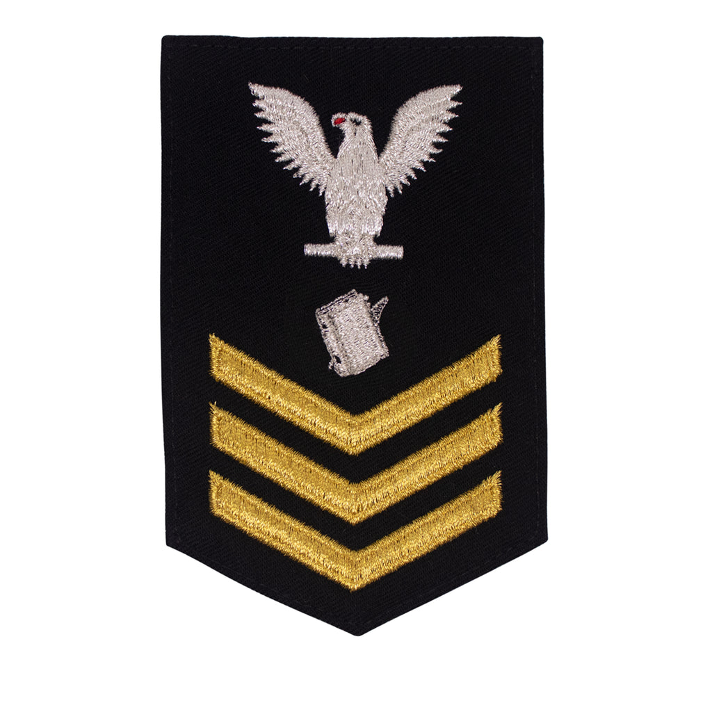Navy E6 FEMALE Rating Badge: Personnel Specialist - New Serge for Jumper