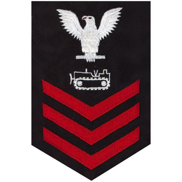 Navy E6 FEMALE Rating Badge: Equipment Operator - blue
