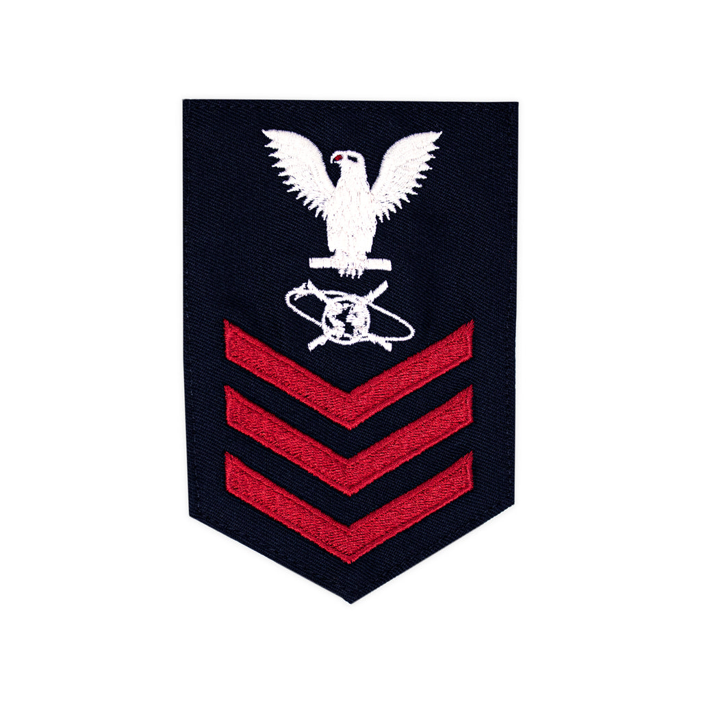 Navy E6 FEMALE Rating Badge: Mass Communication Specialist - Gab for Jumper