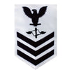 Navy E6 Rating Badge: Aviation Maintenance - white